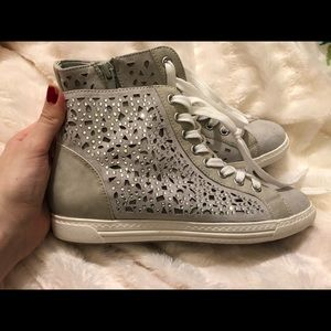 Shoes - Women's bedazzled sneakers